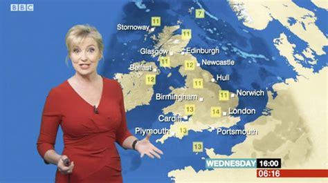 Bbc Weather Busty Carol Kirkwood Is Ravishing In Red As