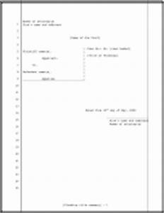 free printables With pleadings template