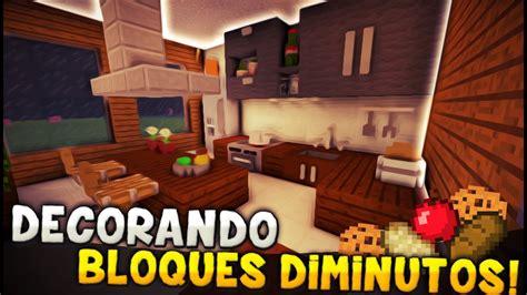 minecraft decorando una cocina  bloques diminutos