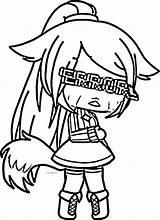 Gacha Coloring Sad Depression Wecoloringpage Cry sketch template