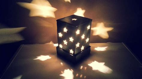 starry cardboard lampshade diy home