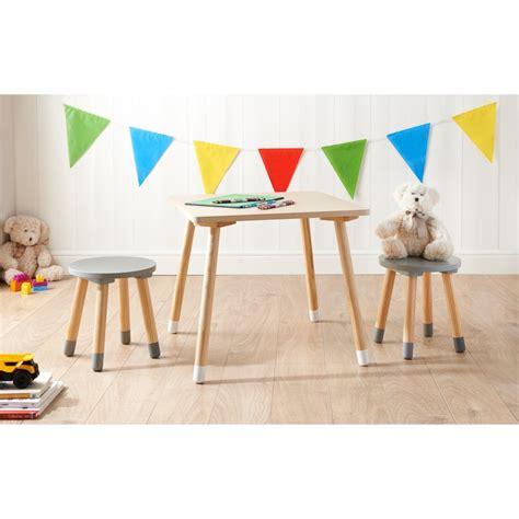 Mobel Kids Wooden Table + 2 Stools  Home  Kids Furniture