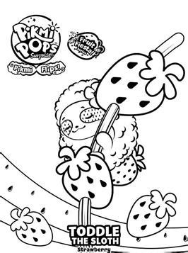 kids  funcom  coloring pages  pikmi pops