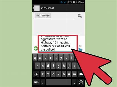 911 Text Texting Wikihow Step Steps