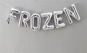 frozen 16 inch balloon letters by bubblegum balloons With 12 inch letter balloons