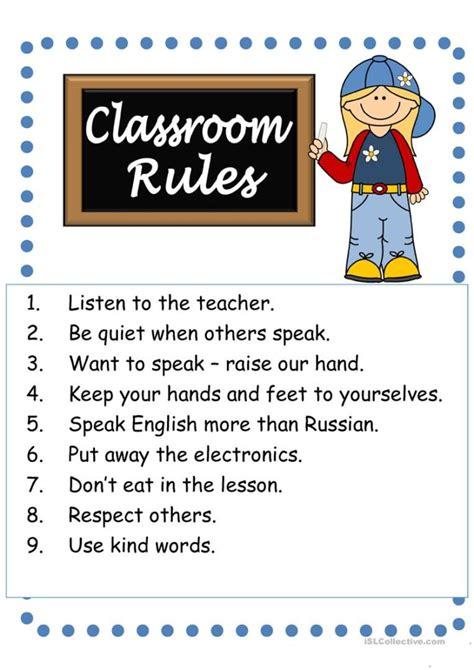 placeholder preschool classroom rules social studies