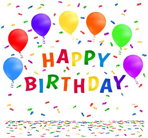 Happy Birthday Clipart Free Confetti Clipart Pictures Clipartix