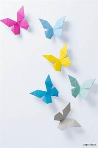 Schmetterlinge Basteln 3d : 3d papier schmetterlinge selber machen paper trophies papershape shop papier 3d papier ~ Orissabook.com Haus und Dekorationen