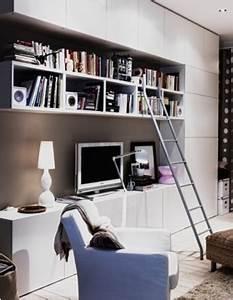 Mur Tv Ikea : ikea besta pour mur du fond int grant la tv biblioth que int gr e et rangement jusqu 39 au plafond ~ Teatrodelosmanantiales.com Idées de Décoration