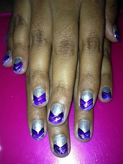 Purple Tip Weave Nails Lacquered