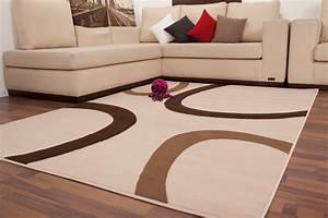 tapis contemporain de couleur beige marron convers With tapis de couleur