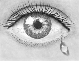 Drawn tears eye pencil - Pencil and in color drawn tears ...