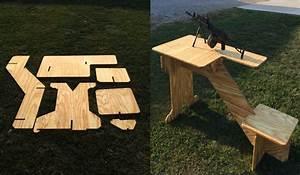 Take-down shooting bench I made : Firearms