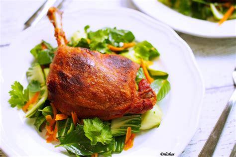 thai duck confit  asian salad delishar singapore