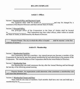 sample bylaws template 6 free documents in pdf With s corporation bylaws template