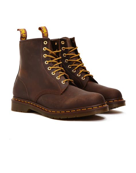 dr martens high brown dr martens 8 eye rugged boots brown in brown for lyst