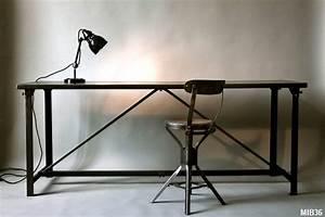Bureau Industriel Pas Cher : table bureau industriel ~ Teatrodelosmanantiales.com Idées de Décoration