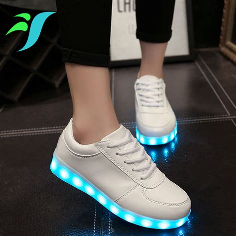 free light up shoes white luminous man shoes led light up shoes sole for