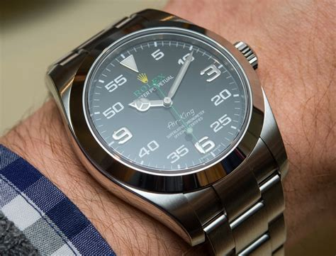 New 2016 Rolex Oyster Perpetual Air-King Watch Hands-On ...