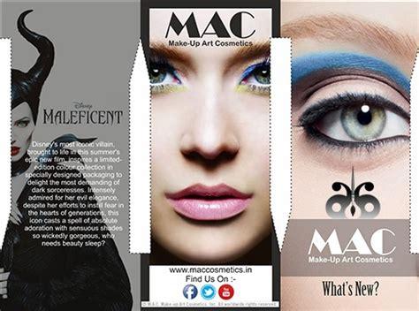 brochure designing mac cosmetics  behance