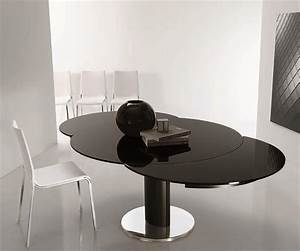 Table Ronde Noire : table ronde verre laqu noir design bontempi casa sur cdc design ~ Teatrodelosmanantiales.com Idées de Décoration