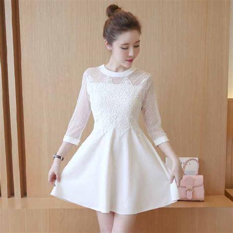 dress putih brokat terbaru  myrosefashioncom