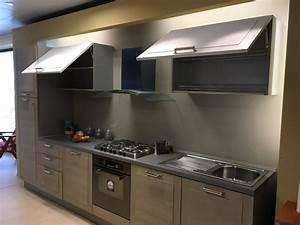 Cucina rovere chiaro moderna lineare Mediterranea di Berloni cucine