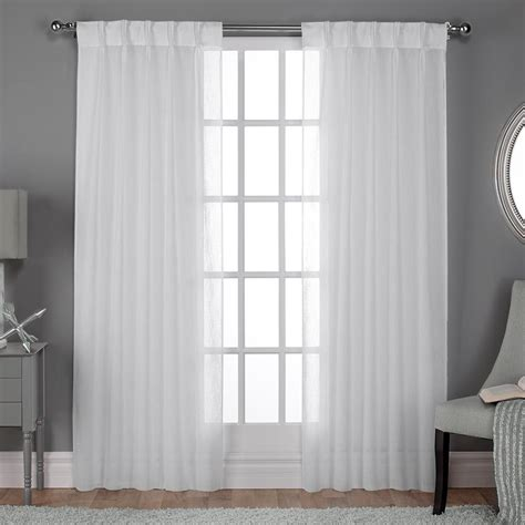 White Curtains Drapes - belgian pinch pleat winter white textured linen look