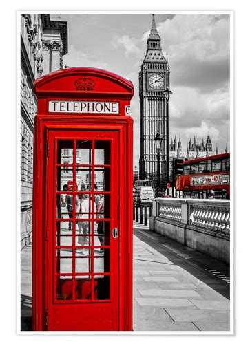 london telephone box  big ben posters  prints