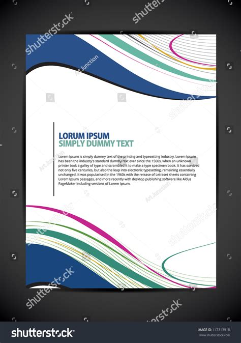 beautiful abstract flyer design cover page stock vector