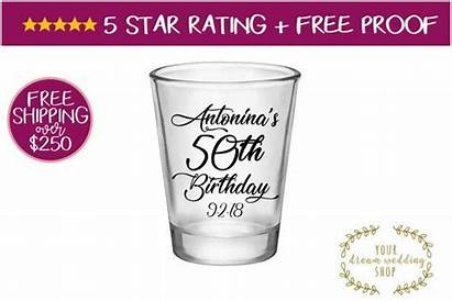 Birthday Glass Favors Shot 50th Party Glasses