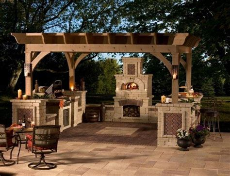 garden barbeque pergola wood burning outdoor pizza oven