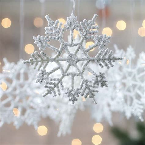 white snowflake ornaments christmas ornaments