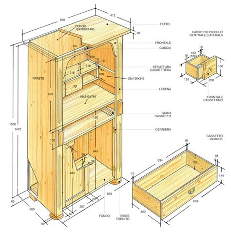 come costruire una credenza in legno credenza rustica fai da te in legno d abete bricoportale