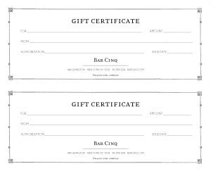 restaurant gift certificate template vintage restaurant gift certificate marketing archive