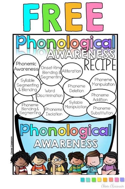 phonological awareness activities preschool phonemic awareness sheet freebie clever classroom 31610