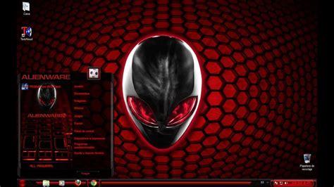 tema pack completo alienware rojo red  windows