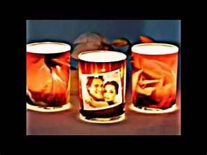 Papier Auf Glas Kleben : windlichter selber basteln youtube ~ Watch28wear.com Haus und Dekorationen