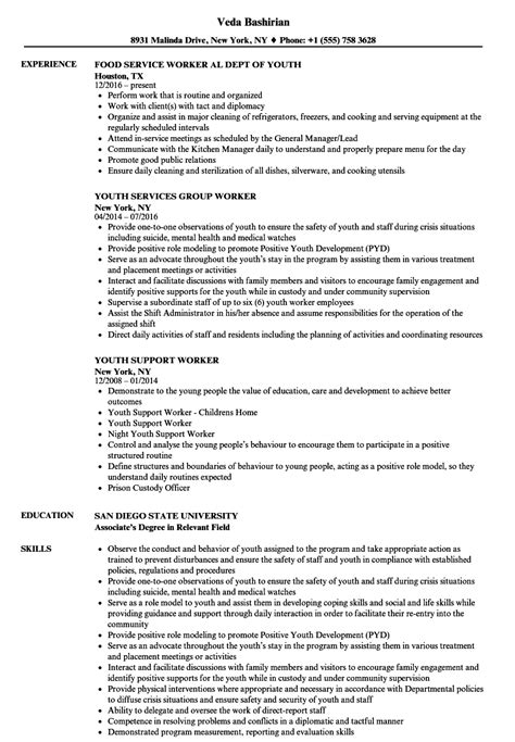 youth worker resume sles velvet