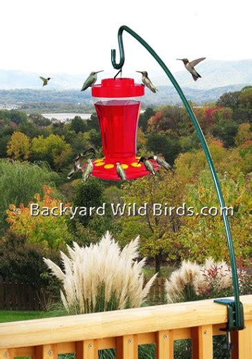 deck pole  hummingbird feeder