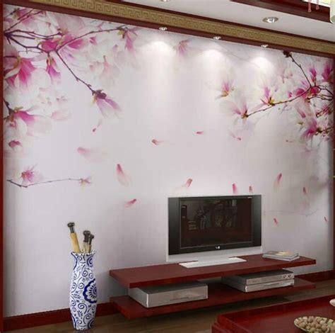 embossed cherry blossom flower photo mural floral