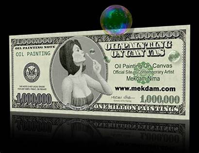 Dollar Million Painting Bills Canvas Oil Paintingvalley