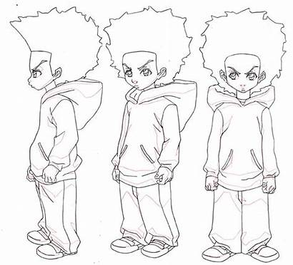 Boondocks Drawing Huey Cool Draw Sketches Drawings