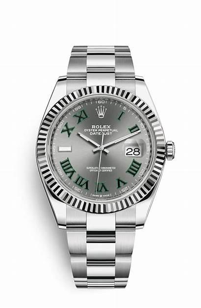 Datejust Slate Rolex Oyster Steel Roman Chronologie