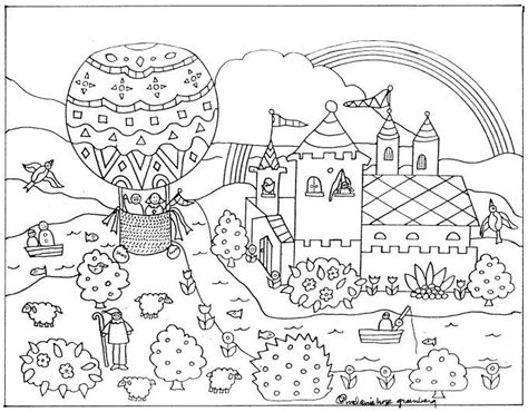 Imaginative Fairy Tale Coloring Page Fairy coloring