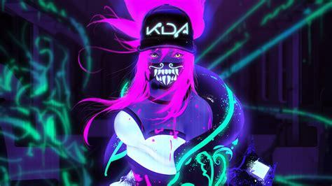 Akali Neon K/da League Of Legends Lol Game Hd Wallpaper