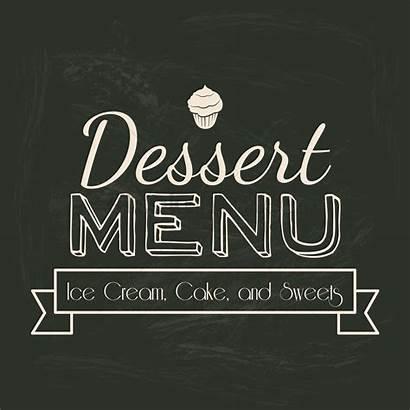 Dessert Menu Title Graphic Vector Stockunlimited Designs