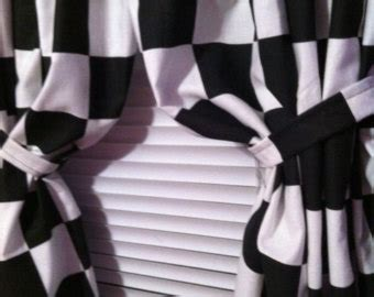Checkered Flag Blackout Curtains by 1 Set Window Curtain Panels Made From Nascar By Jeffandstephs