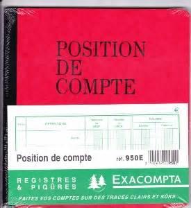 compte fourniture de bureau exacompta 950e registres et piqures position de compte