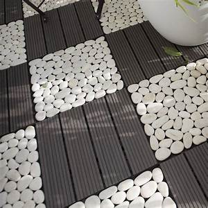 lot de 4 dalles clipsables composite snapgo gris l30 x With photo carrelage terrasse exterieur 18 decoration amp eclairage leroy merlin